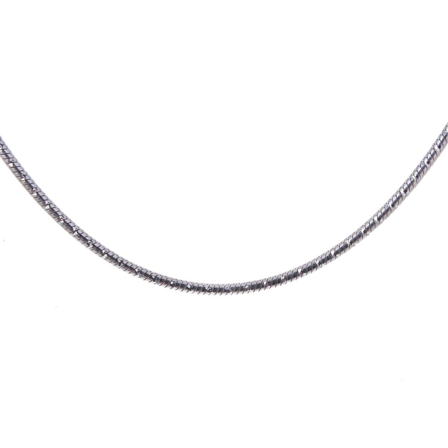 Sterling Silver Mens Necklaces - Sterling Silver Type Magic Diamond Necklace