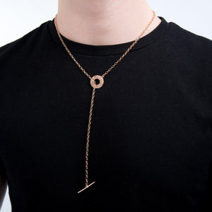 Sterling Silver Mens Necklaces - Think Positive Chain Gold Plated