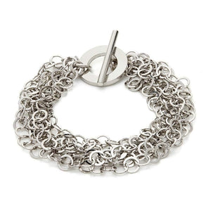 Sterling Silver Womens Bracelets - Silver Multi Strings Bracelet