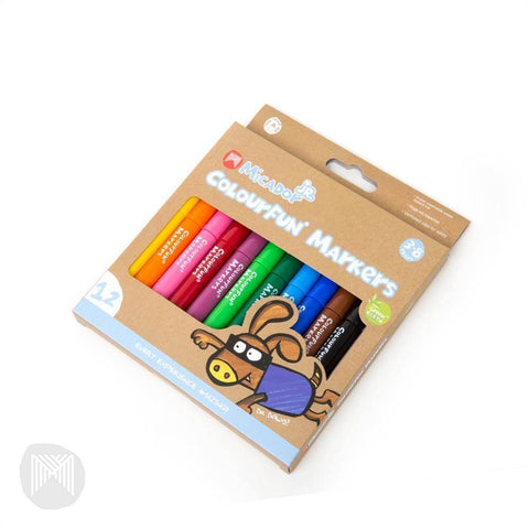 Micador Colourfun Markers - 12 pack - Rainbow Nation