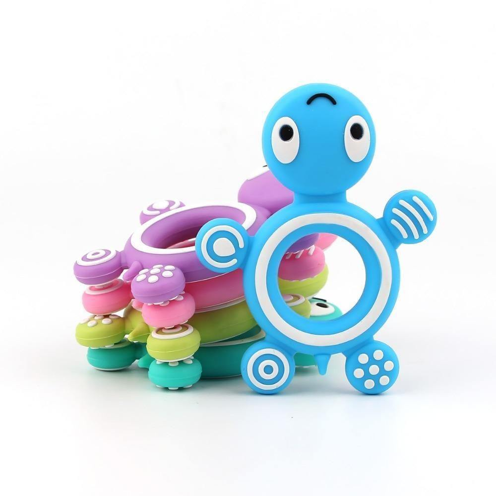 Rainbow Nation Silicon Turtle Teether - Rainbow Nation