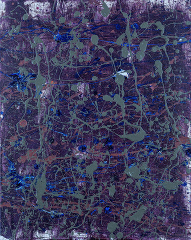 """THE WOODS #1"" ORIGINAL SPLATTER PAINTING"