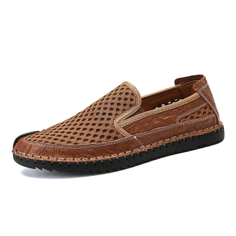 de Grande Taille Hommes Couture Rayon de miel Maille Respirable Doux Causal Chaussures
