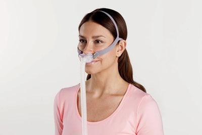 Woman wearing AirFit P10 Mask System