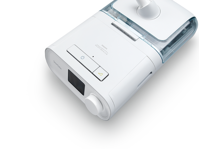 CPAP device with humidifier attached