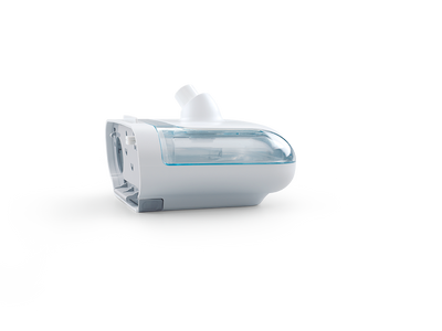 CPAP device side view