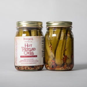 HOT Pickled Okra