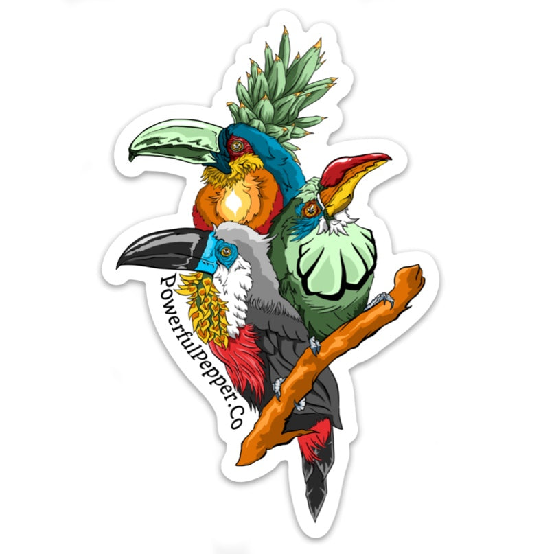 Powerful Pepper Sticker Plumage