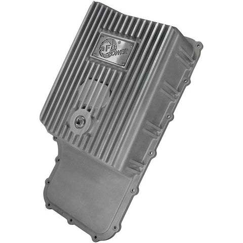 AFE 46-70180 TRANSMISSION PAN (RAW FINISH) 2011-2019 FORD SUPER DUTY (EQUIPPED WITH 6R140 TRANSMISSION)
