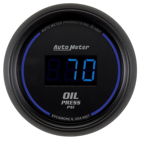 AUTO METER 6927 COBALT DIGITAL OIL PRESSURE GAUGE 5-100 PSI-XDP-Full Send Diesel