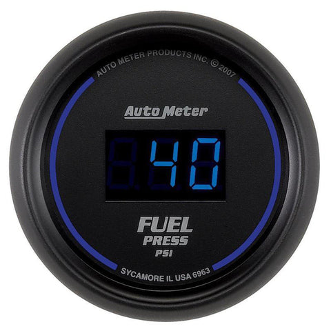 AUTO METER 6963 COBALT DIGITAL FUEL PRESSURE GAUGE 5-100 PSI-XDP-Full Send Diesel