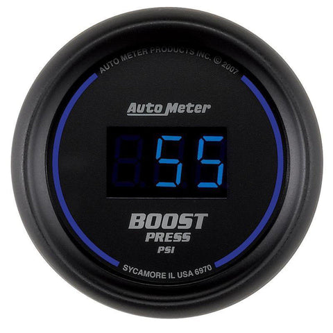 AUTO METER 6970 COBALT DIGITAL BOOST GAUGE 5-60 PSI-XDP-Full Send Diesel