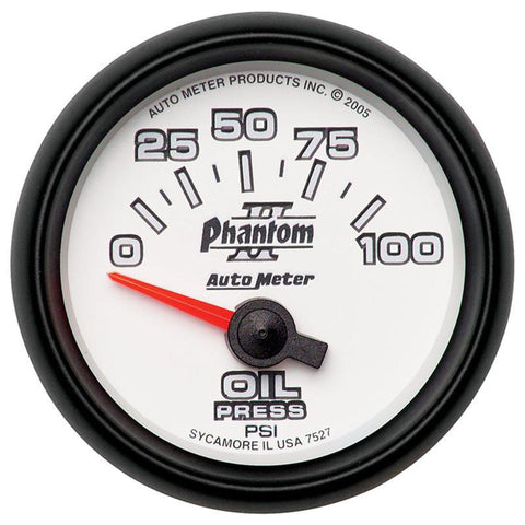 AUTO METER PHANTOM II SERIES OIL PRESSURE GAUGE 7527 0-100 PSI-XDP-Full Send Diesel