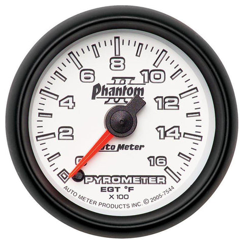 AUTO METER PHANTOM II SERIES PYROMETER GAUGE 7544 0-1600 DEGREES-XDP-Full Send Diesel