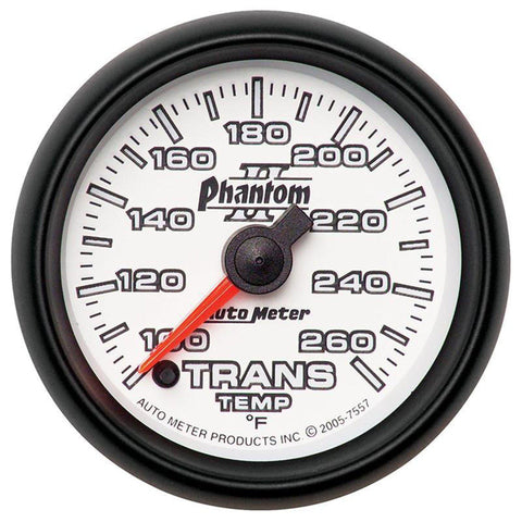 AUTO METER PHANTOM II SERIES TRANSMISSION TEMP. GAUGE 7557 100-250 DEGREES-XDP-Full Send Diesel