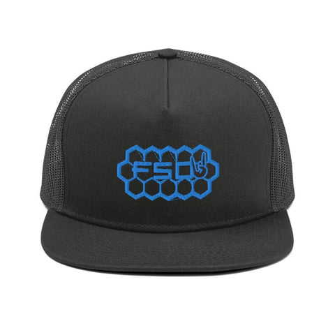 Blue Honey Comb Snapback-Full Send Diesel-Full Send Diesel