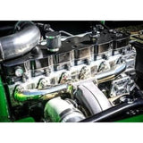 COMPETITION T-6 12V 0* VALVE STAINLESS DIESEL EXHAUST MANIFOLD-stainless diesel-Full Send Diesel