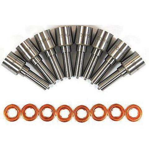 DDP 64-660NZ 6 HOLE 60% OVER NOZZLE SET 2008-2010 FORD 6.4L POWERSTROKE-XDP-Full Send Diesel