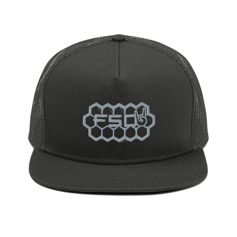 Grey Honey Comb Snapback-Full Send Diesel-Full Send Diesel