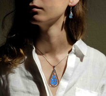Load image into Gallery viewer, Forget-Me-Not Necklace, X-Large Swivel Teardrop, Transparent