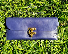 Load image into Gallery viewer, Navy Blue Leather Wallet