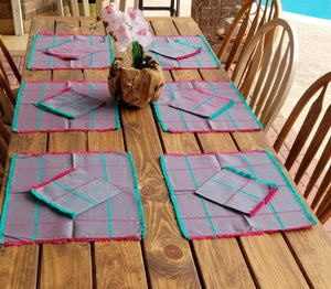 Purple Place Mats set of 6