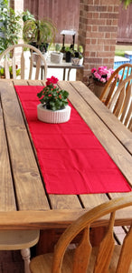 "77"" Red Table Runner"