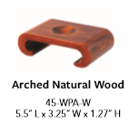 Wood Base - Arched Natural