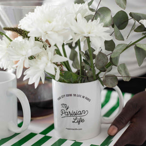 PARIS COFFEE MUG – MY PARISIAN LIFE TEXT