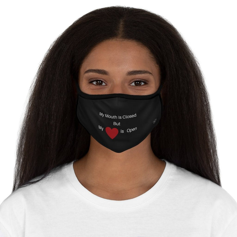 My Heart Is Open fitted face mask
