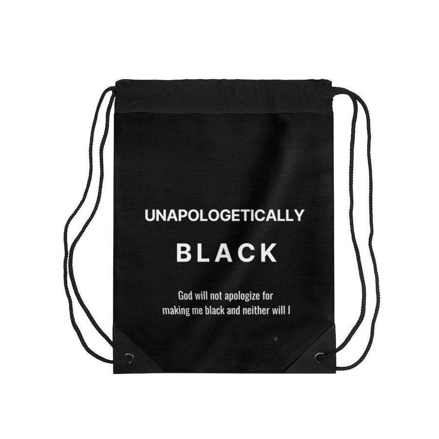 Unapologetically Black drawstring bag
