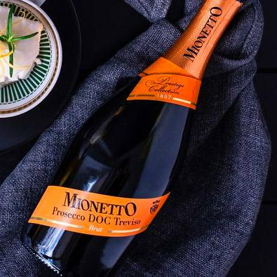 Dining Home for Christmas - Mionetto drinks for staff delivered