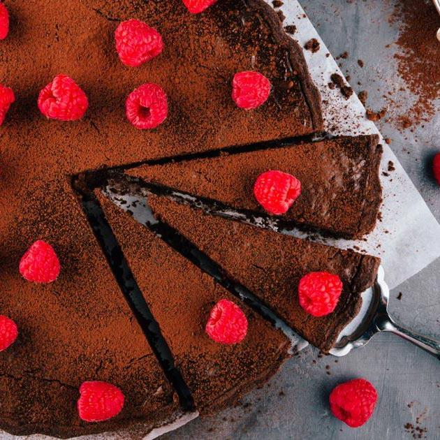Chocolate and Raspberry Torte - - three course christmas meal delivered