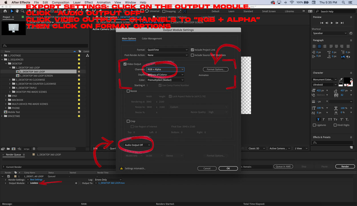 3d device animation tutorial export settings