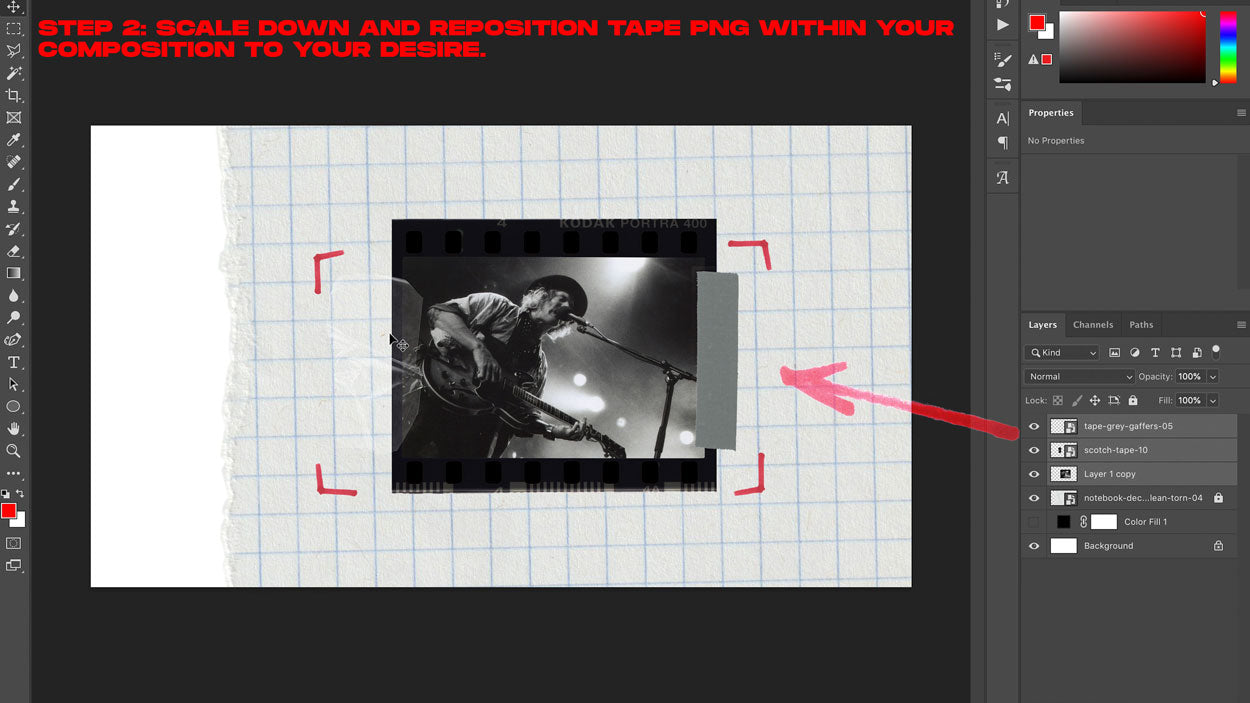 how to add tape png photoshop tutorial