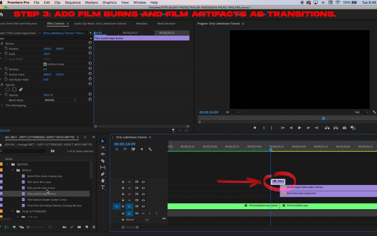 how to make your video look like film tutorial