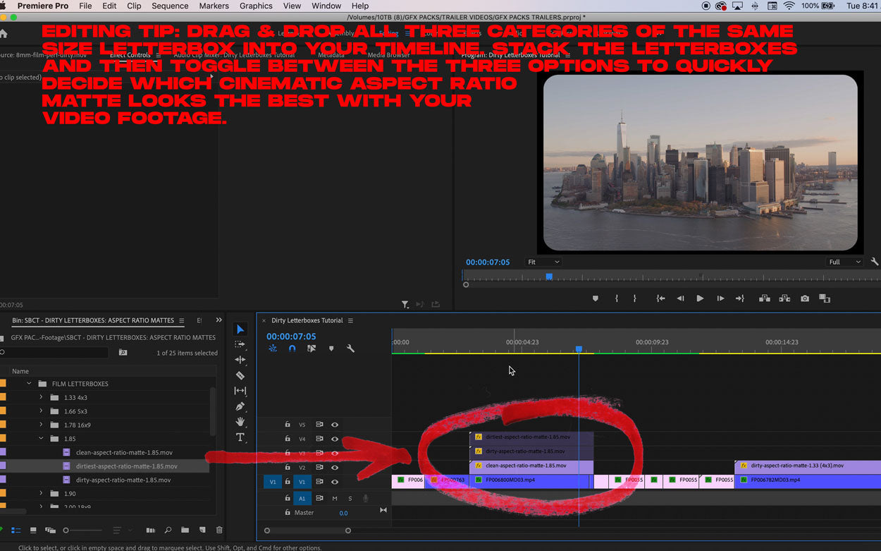 how to make your video look like film tutorial editing tip