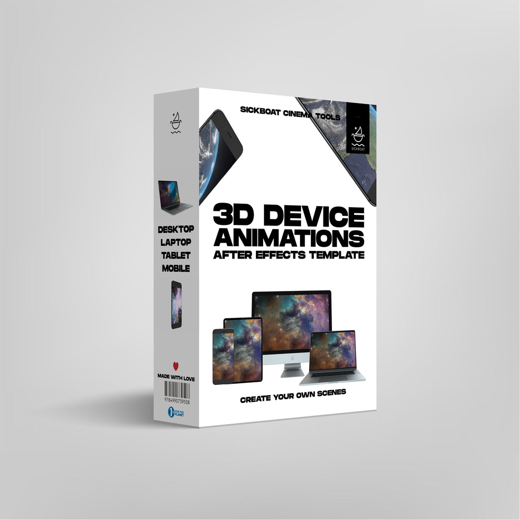 3d device animations ae template