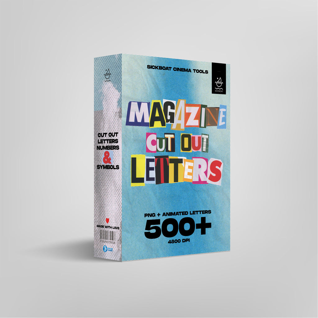 magazine cut out letters png pack
