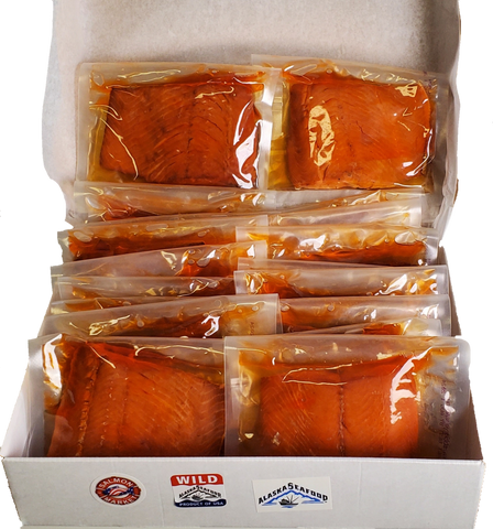 24 SMOKED SOCKEYE SALMON FILLET - 8 oz SAVE %20 - SalmonMarket