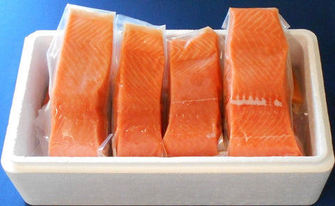 FRESH Wild Alaskan KING SALMON FREE SHIPPING  10 POUNDS - SalmonMarket