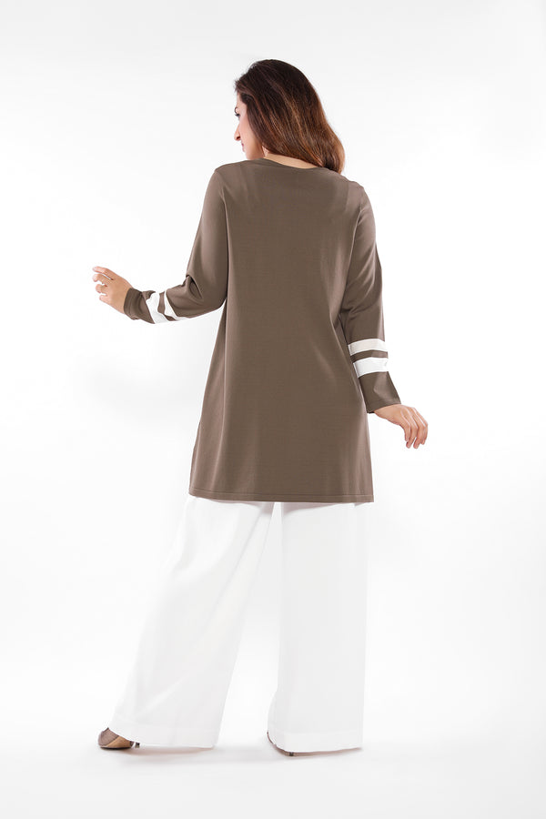 Plain with side opening Blouse #2631