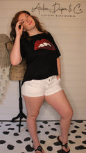 Load image into Gallery viewer, Black | Red sequin Lips Top