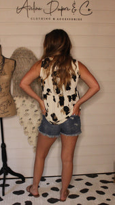 Babydoll tee animal print