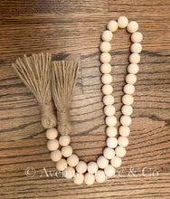 Load image into Gallery viewer, Farmhouse wooden garland beads