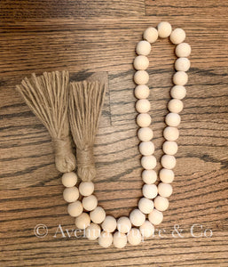 Farmhouse wooden garland beads