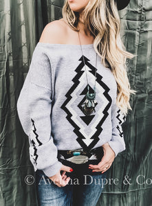 Aztec Grey Sweater