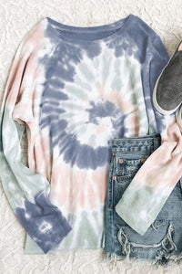 Long Sleeve Light Tie Dye Top