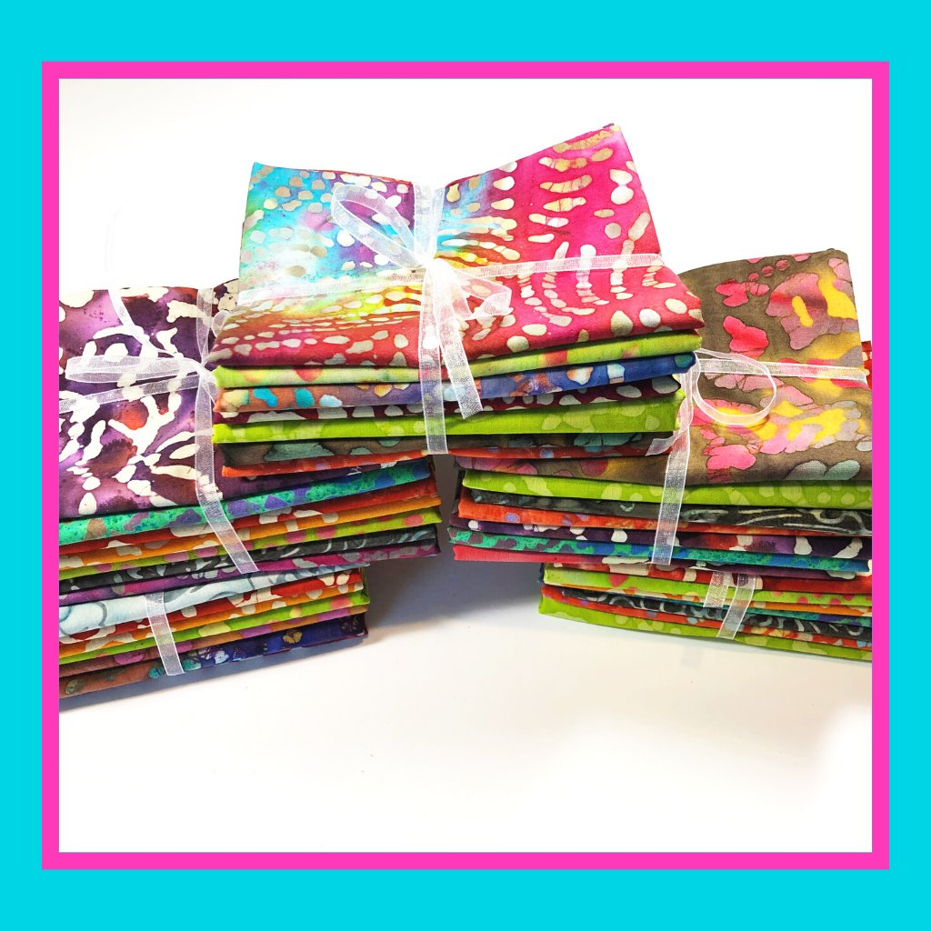 These cotton batik fabric subscription boxes make a great gift for the quilter or crafter in your life.  You can choose between a fat quarter bundle or a fabric by the yard.  Batik fabrics are stunning and come in earth tone colors or vivid bright colors.