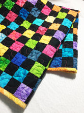 Load image into Gallery viewer, Handmade Checkered Baby Quilt